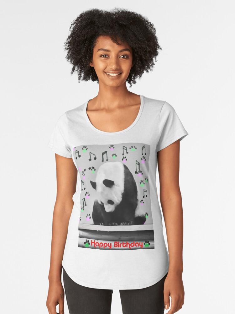 Musical Panda Women's Premium T-Shirt Front
