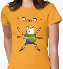 Finn&Jake Hug Womens Fitted T-Shirt