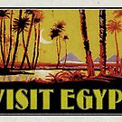 Visit Egypt Pyramids Vintage Travel Luggage Valley Of The Kings Cairo by MyHandmadeSigns