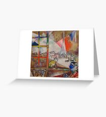 Paris through the Window by Marc Chagall Greeting Card