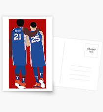 Ben Simmons and Joel Embiid Postcards
