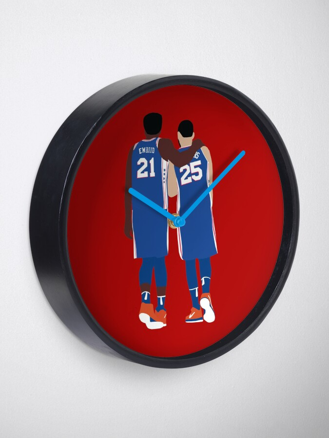Alternate view of Ben Simmons and Joel Embiid Clock