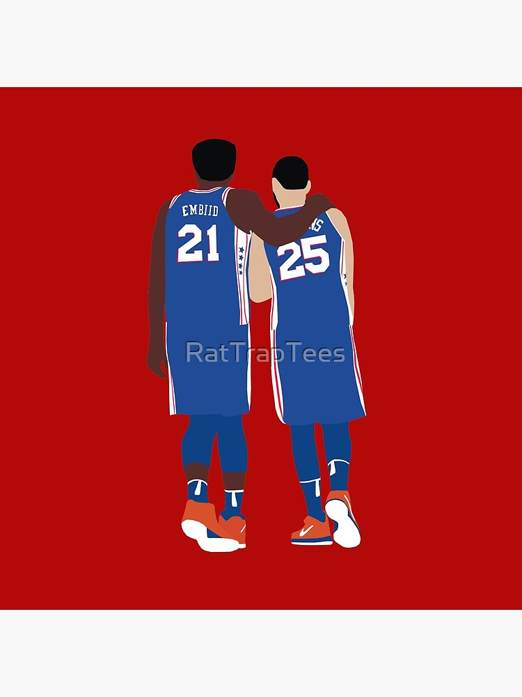Ben Simmons and Joel Embiid by RatTrapTees