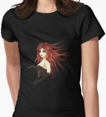 Girl in corset Womens Fitted T-Shirt