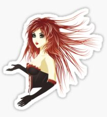 Girl in corset Sticker
