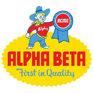 Alpha Beta Supermarket Tshirt - Alpha Beta Tshirt - Defunct Grocery Store Shirt - Retro Logo Tshirt by darkvortex