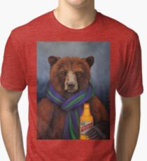 Grizzly Beer Tri-blend T-Shirt