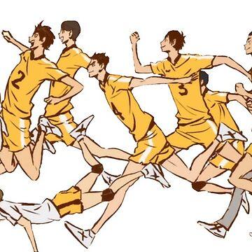 Haikyuu!! Johzenji Team! by draweedraws