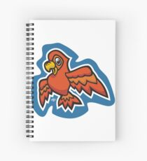Orange Parrot Spiral Notebook
