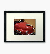 Red Bumper Framed Print