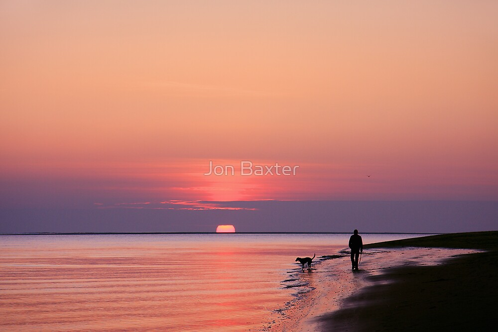 One man and his dog by Jon Baxter