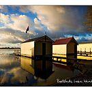 Boatsheds, Lake Wendouree by Craig Holloway