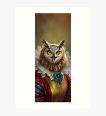Lámina artística Lady Owl, The Court Сounsellor