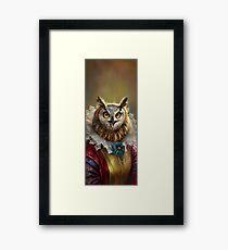 Lady Owl, das Gericht ounounsellor Gerahmtes Wandbild