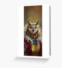 Tarjeta de felicitación Lady Owl, The Court Сounsellor