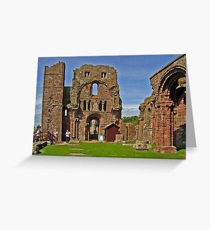 Lindisfarne Abbey - HOLY ISLAND Greeting Card