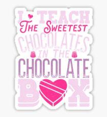 Teacher Valentines Day T Shirt Sweet Chocolates School Gift Sticker