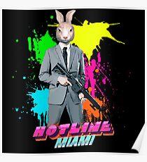 Hotline Miami - Graham the Rabbit Mask Poster