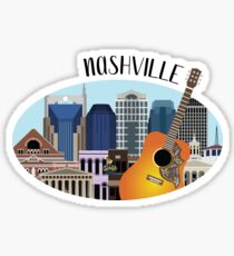 Nashville Skyline Illustration Sticker