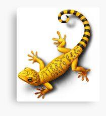 Yellow Gecko bringing Success Canvas Print