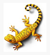 Yellow Gecko bringing Success Photographic Print