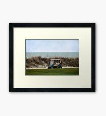 Golf Cart, The Ocean Course, Kiawah Island, South Carolina Framed Print
