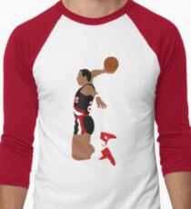 Clyde Drexler Dunk Baseball ¾ Sleeve T-Shirt