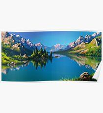 North America Landscape Poster