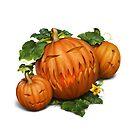 Halloween Jack o'Lantern Pumpkins by Ldarro