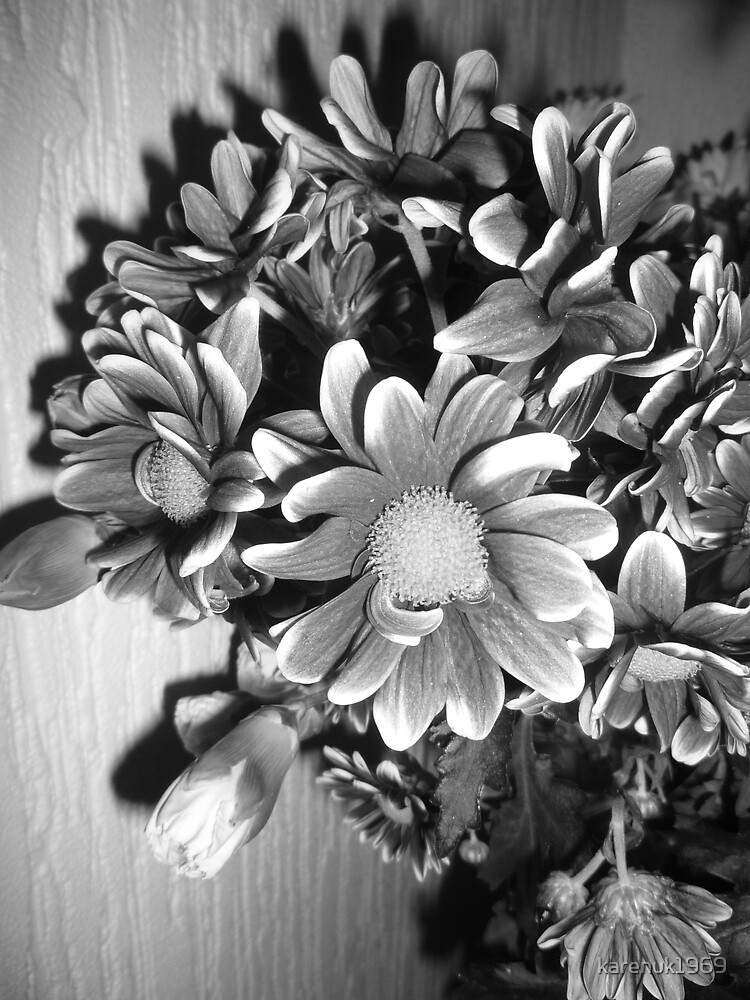 Floral Display in Black and White by karenuk1969