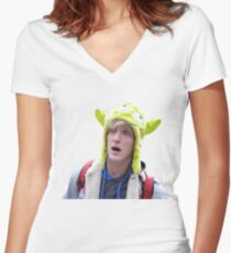 Logan Paul Women's Fitted V-Neck T-Shirt