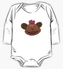 cartoon style monkey head One Piece - Long Sleeve