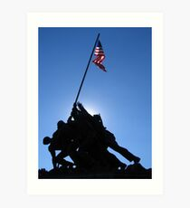 Iwo Jima Monument in Sun  Art Print