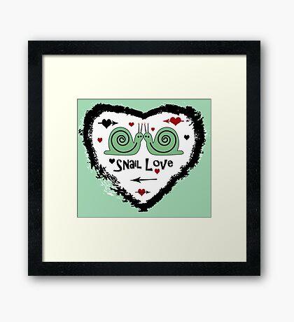 Snail Love Framed Print