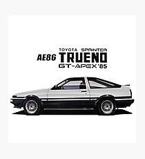 Toyota AE86 Trueno Photographic Print