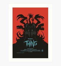 The Thing Classic Retro Poster Art Print