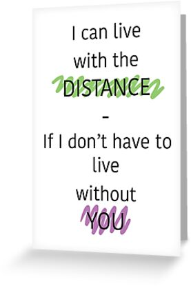 Long distance relationship quote greeting cards by alicia adams long distance relationship quote by alicia adams m4hsunfo