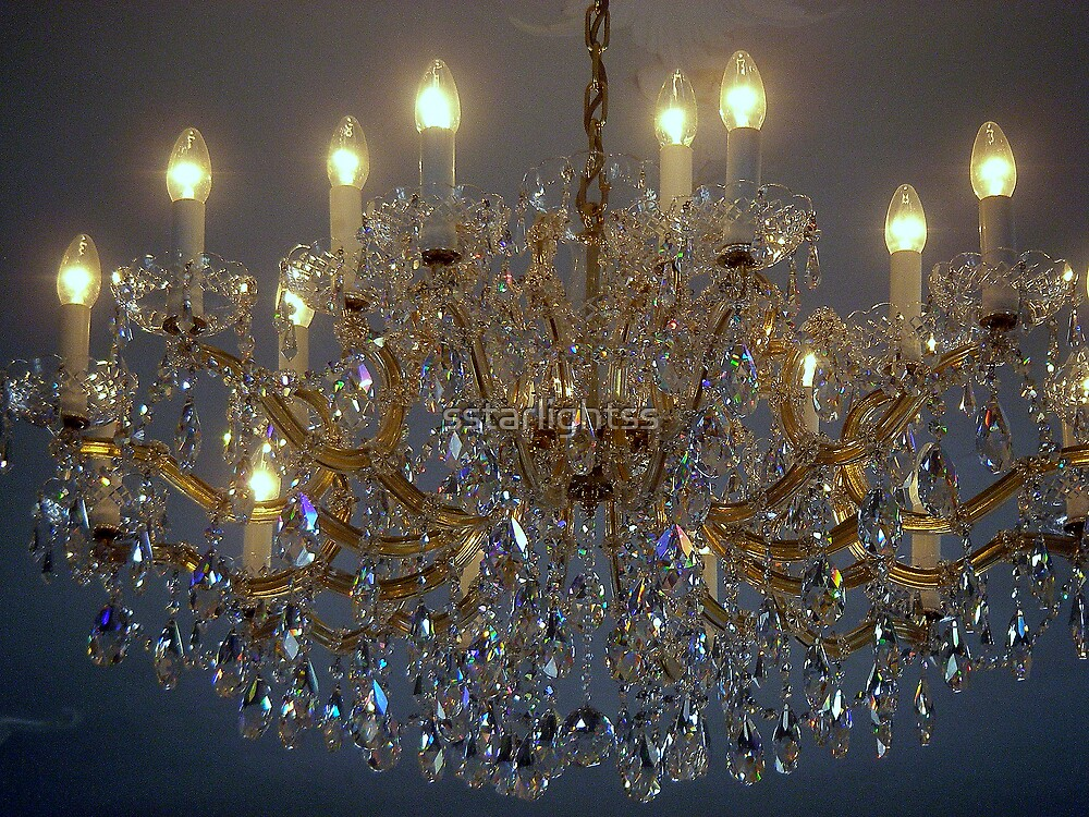 A crystal Chandelier - best view larger by sstarlightss