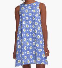 ALPINE EDELWEISS ON PURPLE, BY SUBGIRL A-Line Dress