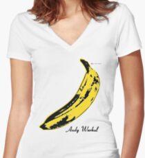 Andy Warhol Banana Velvet Underground Women's Fitted V-Neck T-Shirt