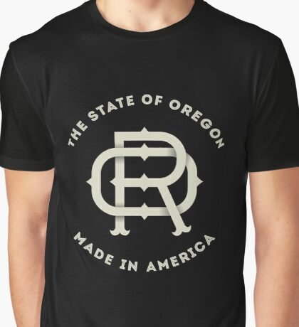 American State of Oregon Monogram OR Graphic T-Shirt