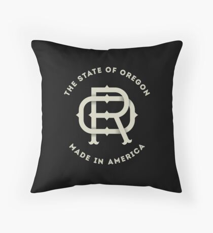 American State of Oregon Monogram OR Throw Pillow