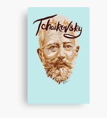 Tchaikovsky - classical music composer Canvas Print