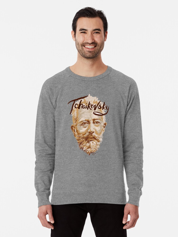 'Tchaikovsky - classical music composer' Lightweight Sweatshirt by  fortissimotees