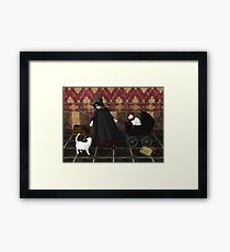 Playing: gothic way Framed Print