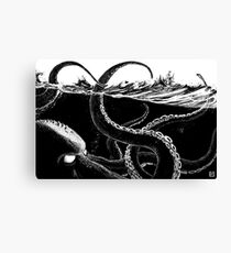 Kraken Rules the Sea Canvas Print