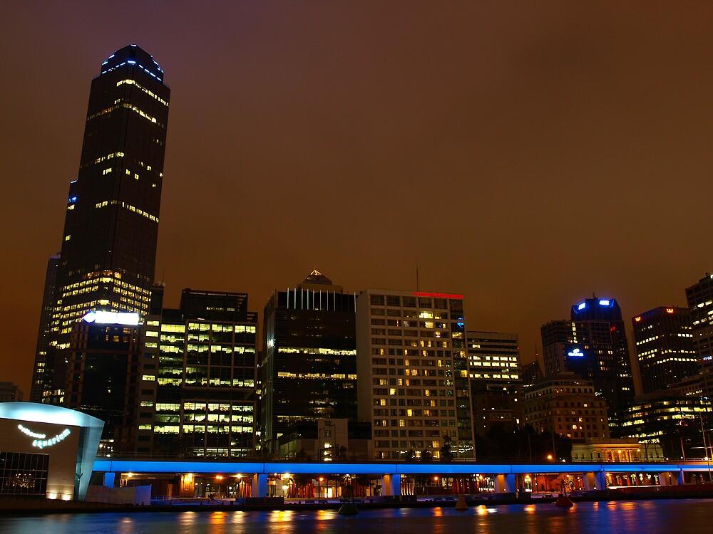 Melbourne City Skyline by Mariebel Ferro