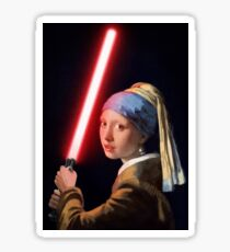The Girl with the Lightsaber Sticker
