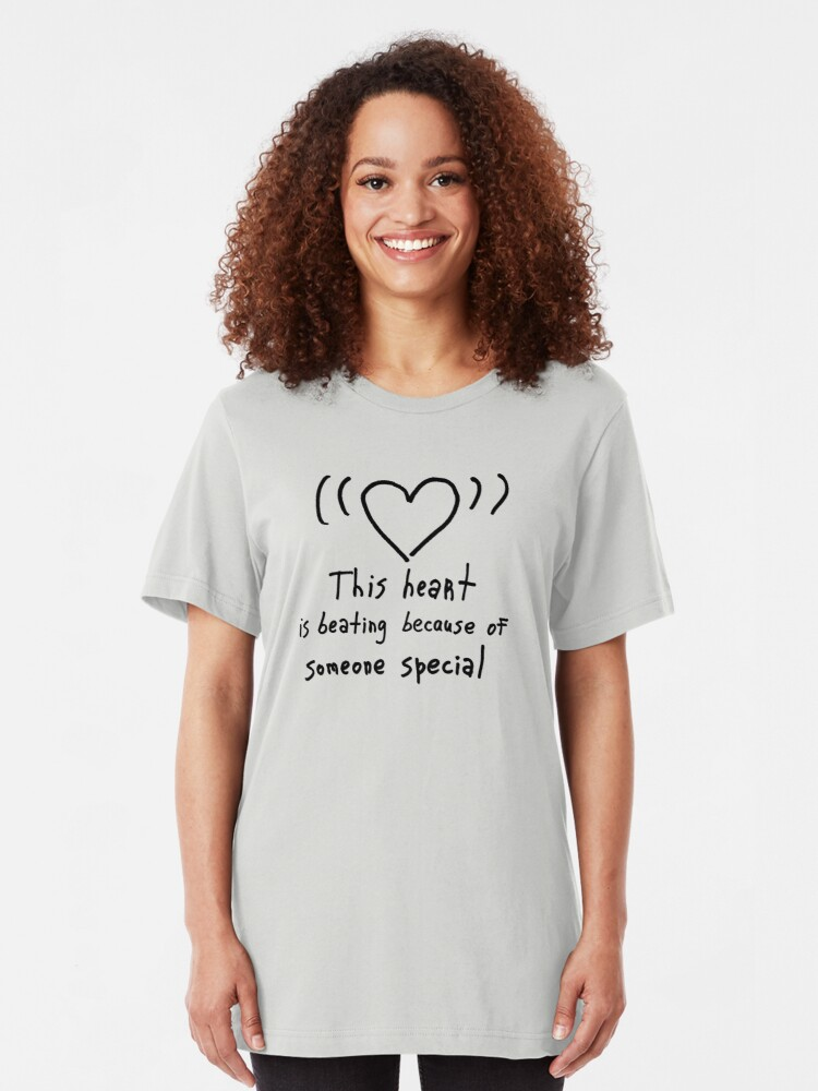 Alternate view of This heart is beating Slim Fit T-Shirt