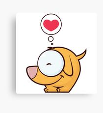 Love For Dog Canvas Print